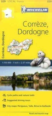 Correze, Dordogne, France Local Map 329 9782067210462 (Sheet map, folded, 2016)