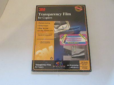 3M Transparency Film for Copiers PP2500--100 Sheets NEW