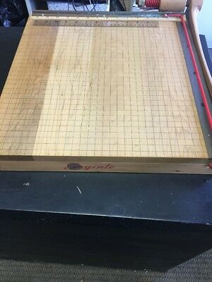 """Ingento 15"""" Solid Wood Paper Cutter Model 1142 Photo Trimmer Cast Iron Handle"""