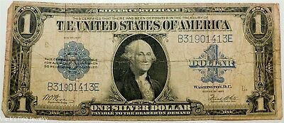 1923 $1 Large Dollar Silver Certificate Very Well Circulated US Currency Bill