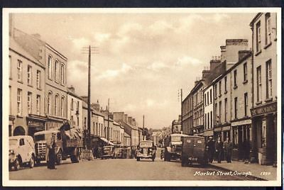 MARKET STREET, OMAGH. circa 1940s Vintage Postcard. Free Post