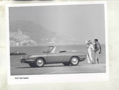 1965 Fiat 850 Spider ORIGINAL Factory Photograph wy3739