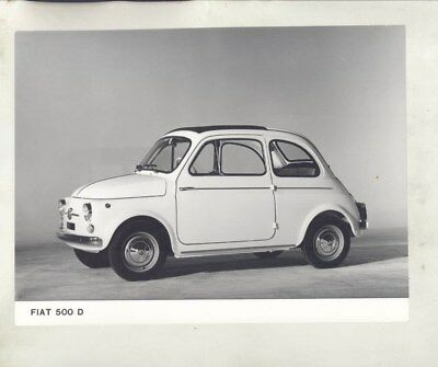 1964 ? Fiat 500D ORIGINAL Factory Photograph wy3741