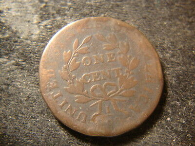 1798 Daped Bust Large Cent Decent Reverse Unreadable Date Sheldon