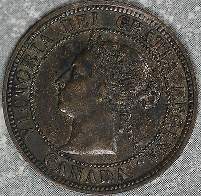 Nice Uncirculated 1888 Canada Victoria Large Cent !!