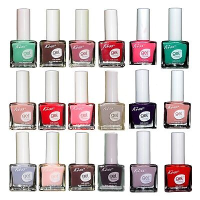 KISS NEW YORK Gel Strong Nail Polishes Chip Free Choose Color Knp023 ...