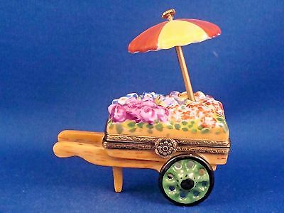 Flower Cart with Umbrella -  FRENCH LIMOGES box