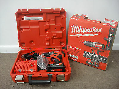 """Milwaukee 2701-22Ct M18 Brushless Cordless 1/2"""" Compact Drill/driver Kit"""
