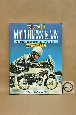 Vtg 1989 Matchless AJS Post War Single Twins Restoration Guide Book by Roy Bacon