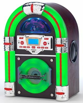 Steepletone Jive Rock Sixty Table Top JukeBox Bluetooth cd mp3 black 1950's retr