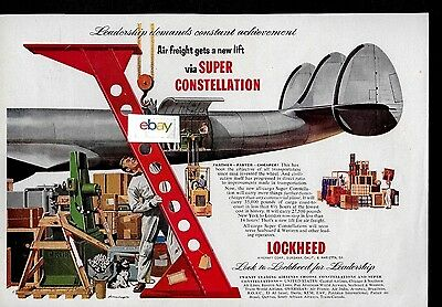 Lockheed Super Constellation Freighter Soon To Serve Seaboard & Weatern Ad