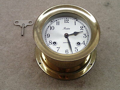 Chelsea Boston Vintage Shipstrike Clock with Key Estate Item Not Working AS IS