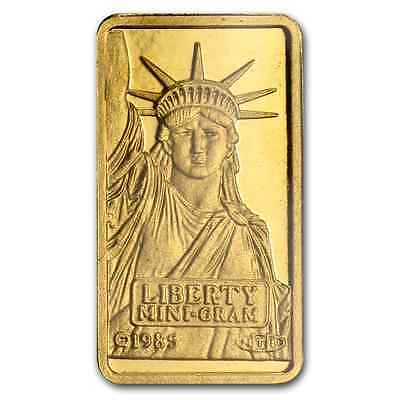 GOLD ~1~GRAM PURE .999~STATUE of LIBERTY GOLD BAR ~SEALED~ CREDIT SUISSE ~$72.88