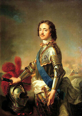 Oil painting Jean Marc Nattier Portrait of Peter I in knightly armor Hand paint