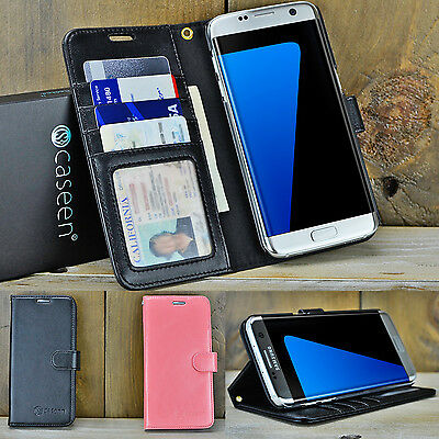 For Samsung Galaxy S7 / S8 / S9 Plus Luxury Leather Wallet Case Stand Flip Cover