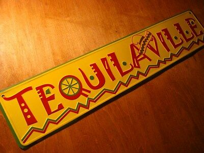 TEQUILAVILLE LIME & SOMBRERO SIGN Tequila Cantina Bar Mexican Restaurant Decor