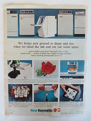 Vintage advertising original Australian 1960s ad HOOVER KEYMATIC WASHING MACHINE