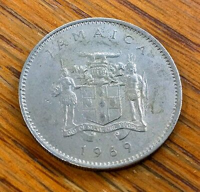 1969 Jamaica 10 Cent Coin