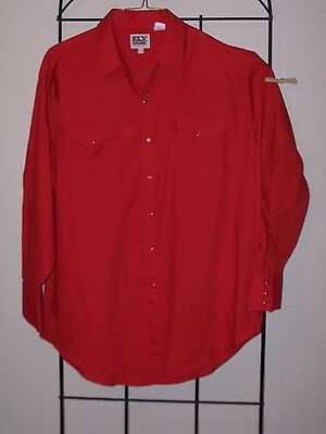 Mens red western square dance shirt  18
