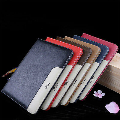 Luxury Leather Smart Case Stand Magnetic Cover For i Pad 2 3 4 Air Mini Pro 9.7""