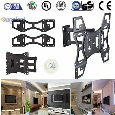 TV Wall Mount Bracket Full Motion Tilt Swivel VESA LCD LED 24 32 37 40 42 Inch