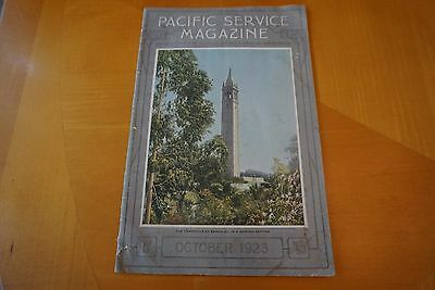Pacific Service Magazine October 1923 Pacific Gas & Electric Co San Francisco GD