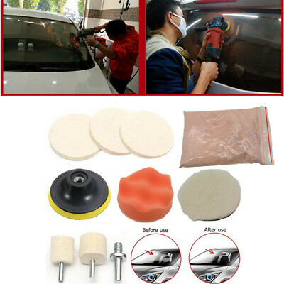 Car Windshield Front/Rear Window Glass Polishing Scratch Removal Repair Tool Kit