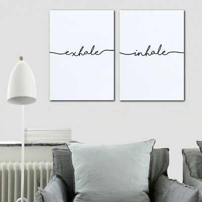 Nordic Abstract Minimalist Canvas Poster Home Wall Art Print Decor Inhale Exhale