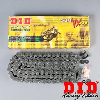 DID530VX-116ZB Steel X-Ring Motorcycle Drive Chain 116 Links with rivet link