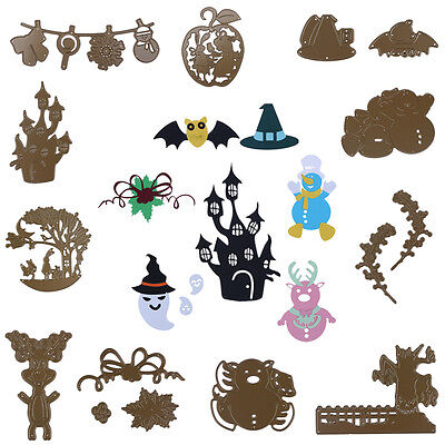 Metal Brown Cutting Dies Stencil Scrapbooking Embossing Album Paper Card Crafts