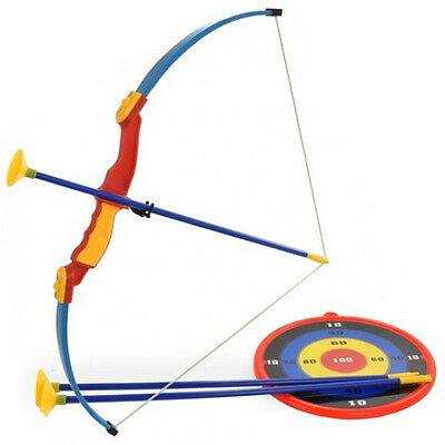 Kids Toy Bow & Arrow Archery Set And Target Outdoor Garden Fun Game Family New
