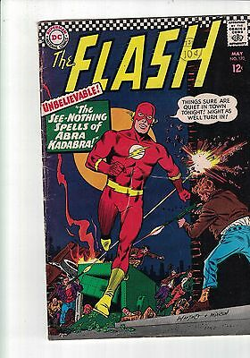 Dc Comic the Flash No 170 May 1967 The See Nothing Spells of Abra Kadabra, 12c