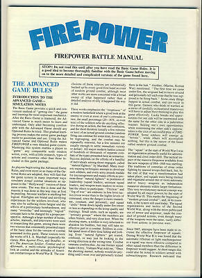 FIREPOWER Battle Manual 48 pages plus Basic game rules 4 pages  ref100094