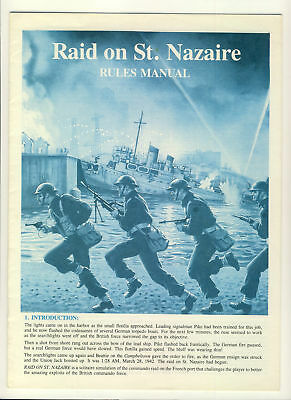 Raid on St. Nazaire Rules Manual 12 pages ref100107