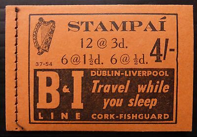IRELAND 1958 - 4/- Complete Booklet SB10 NB2560