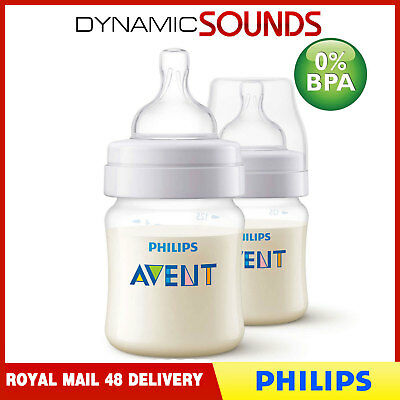Philips Avent Classic+ 125ml Baby Feeding Bottle Pack of 2 (0M+) - SCF560/27