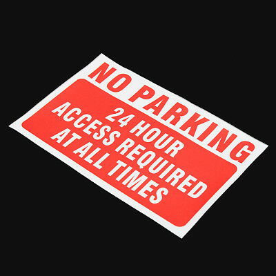 Waterproof NO Parking At Any Time Warning Sign Vinyl Decal Sticker 150*100mm Red