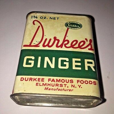 Vintage Durkee's Ginger 1-3/4 oz Tin – Great Patina!