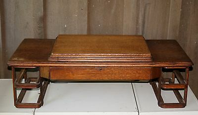 Antique Treadle Sewing Machine Cabinet Top With Drawer Frame Work-No Drawers