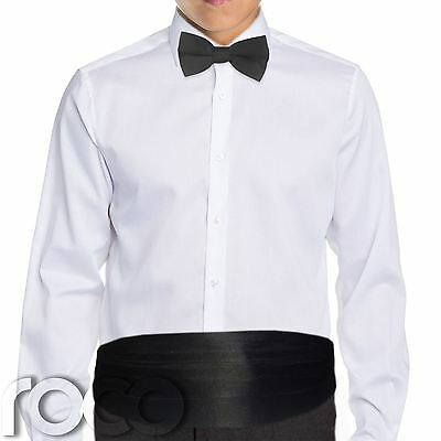 Boys black cummerbund & dickie bow set, boys Accessories, Formal Wear