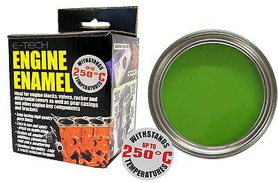 E-Tech High Heat Car Vehicle Engine Gloss Finish Enamel Paint 250ml- Lime Green