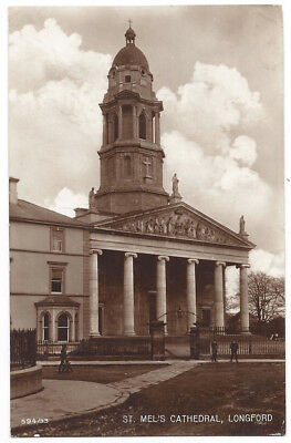 LONGFORD St Mel's Cathedral, Ireland, RP Postcard by Stoker, Postally Used 1914