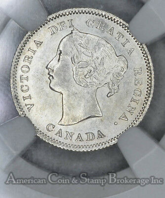 Canada 5c Cents 1900 MS62 NGC silver KM#2 Small Date Narrow 0s