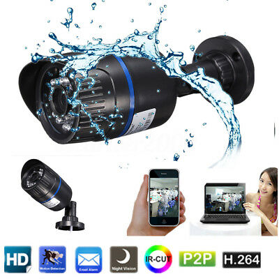 Wireless WIFI HD 720P IP Camera ONVIF CMOS Security Waterproof Night Vision Net