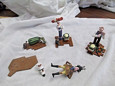 McFarlane Wallace & Gromit Curse of the Were-Rabbit figure lot lady wallace vict