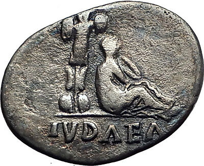VESPASIAN 70AD Jewish War Victory JUDAEA CAPTA Silver Ancient Roman Coin i63395