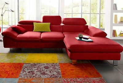 Wohnlandschaft microfaser farbmix couch sofa uvp 1399 for Microfaser eckcouch
