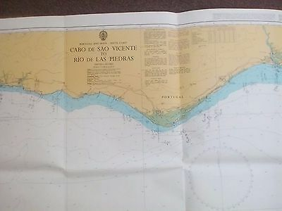 Original  ADMIRALTY/ MARITIME CHART / MAP No 89 Portugal & Spain - South Coast