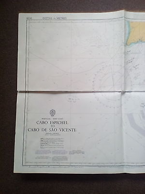 Original  ADMIRALTY/ MARITIME CHART / MAP No 3636 Portugal West Coast