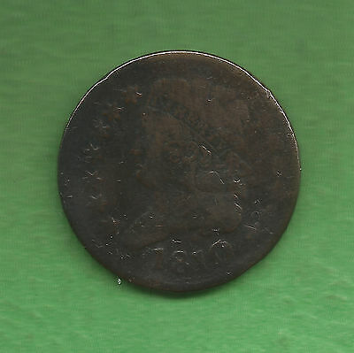 1810 Classic Head, Half Cent, Reverse Rotated - 207 Years Old!